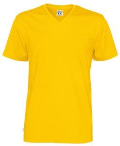 T-shirt V-neck Cottover Herr Färgad